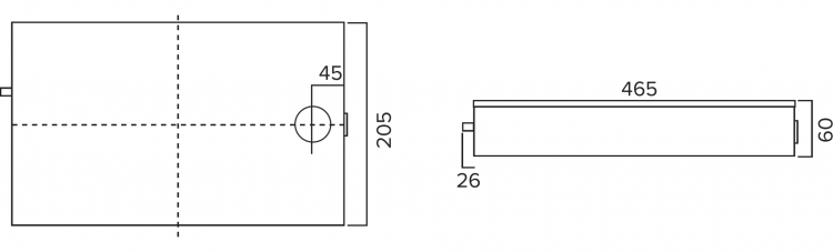 HY-DP30-S Dairy Case Pump Dimensions Diagram