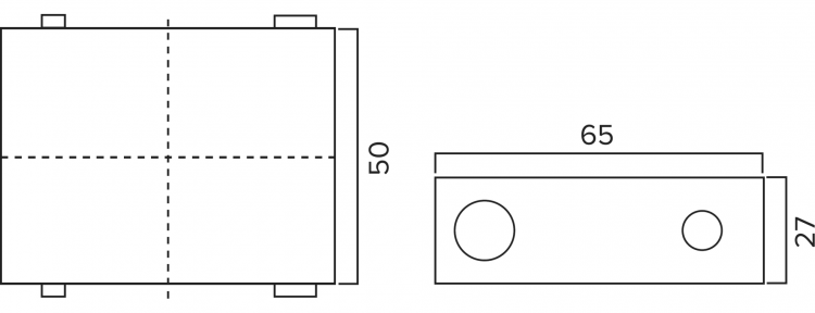 HYD-NAN04 Remote Float Sensor Pump Dimensions Diagram