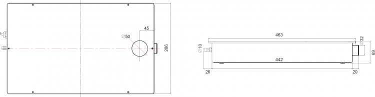 HYP-DP30-M Product Dimensions (diagrams)