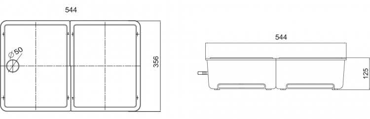 HYP-DP30-P Dairy Case Pump Dimensions Diagram